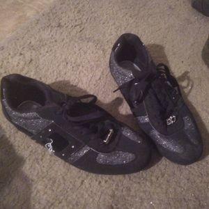 Phat farm black w/silver bling shoes 8.5